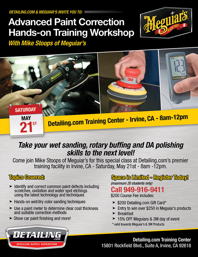 Meguiar's Advanced Paint Correction Workshop - May 21, 2016
