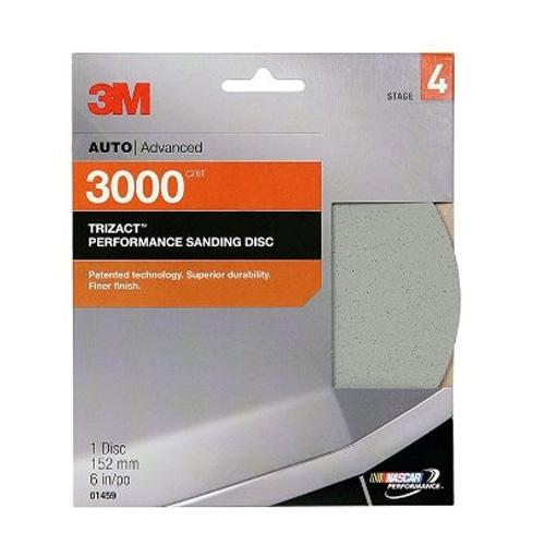 3M Trizact Hookit Foam Sanding Disc, 3000 grit, 01459 - 6 inch (1 disc)