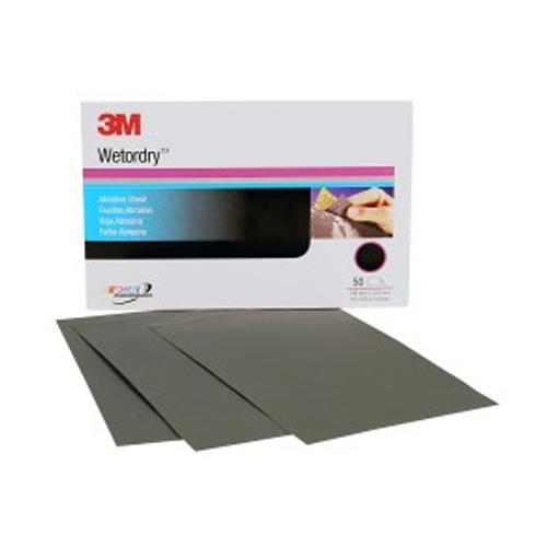 3M Wetordry Sanding Sheets, 600 grit, 02036 (50 sheets)