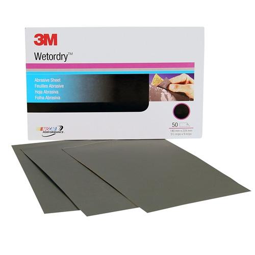 3M Wetordry Sanding Sheets, 2500 grit, 02025 (50 sheets)