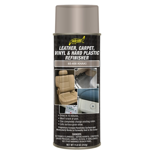 SM Arnold Leather, Vinyl & Hard Plastic Refinisher, Khaki - 11 oz. aerosol