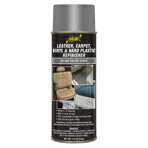 SM Arnold Leather, Vinyl & Hard Plastic Refinisher, Taupe Gray - 11 oz. aerosol
