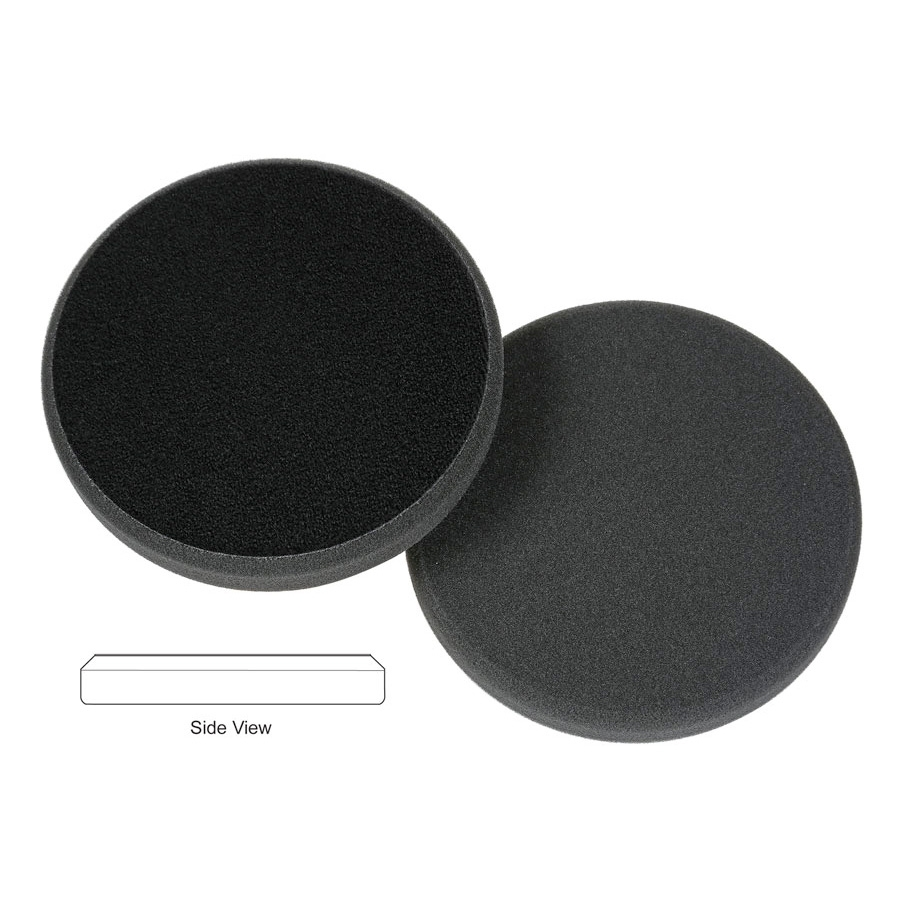 Lake Country Flat Cutback DA Foam Finishing Pad, Black - 6.5 inch