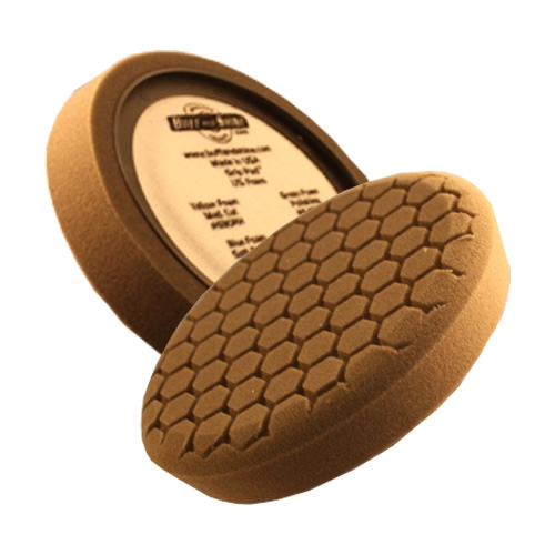 Buff and Shine Hex Face Black Foam Finishing Pad - 7.5 inch