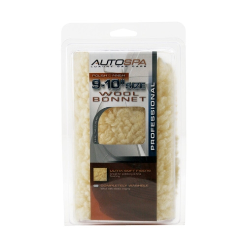AutoSpa Synthetic Wool Polishing Bonnet for 9-10 inch Orbital Polishers