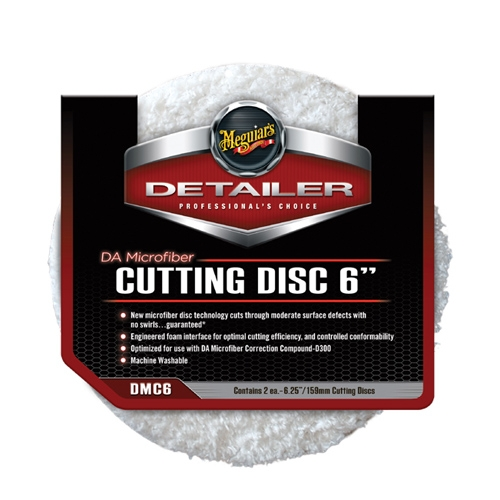 Meguiar's DA Microfiber Cutting Disc, 6 in. (2 Pack)