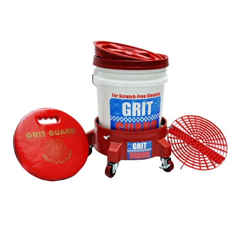 Grit Guard Washing System with Bucket Dolly - Red