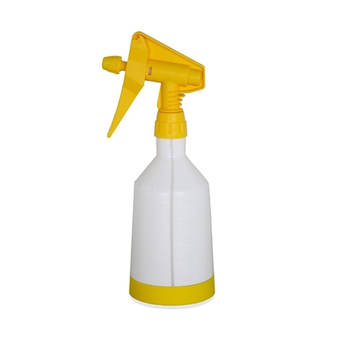 Kwazar Mercury Pro+ Spray Bottle w/ Dual Action Trigger, Yellow - 0.5 Liter