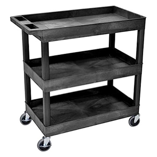 Luxor Tri Level Utility Cart -Black