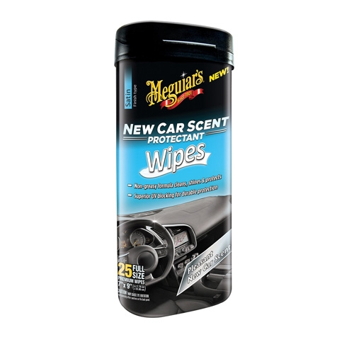 meguiar 39 s new car scent interior protectant wipes. Black Bedroom Furniture Sets. Home Design Ideas