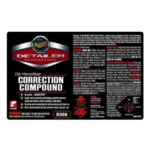 Meguiar's Secondary Label - DA Microfiber Correction Compound