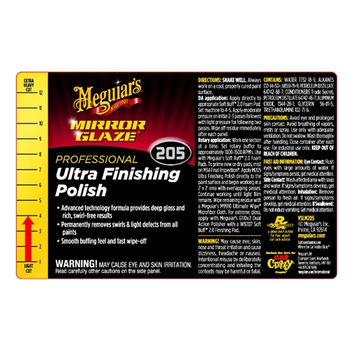 Meguiar's Secondary Label - Ultra-Finishing Polish #205