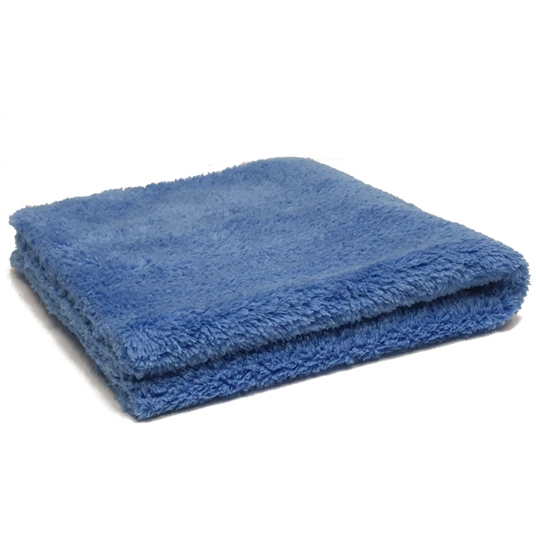 "Ultra Plush Zero Edge Microfiber Towel, 16"" x 16"", 470 GSM - Blue"