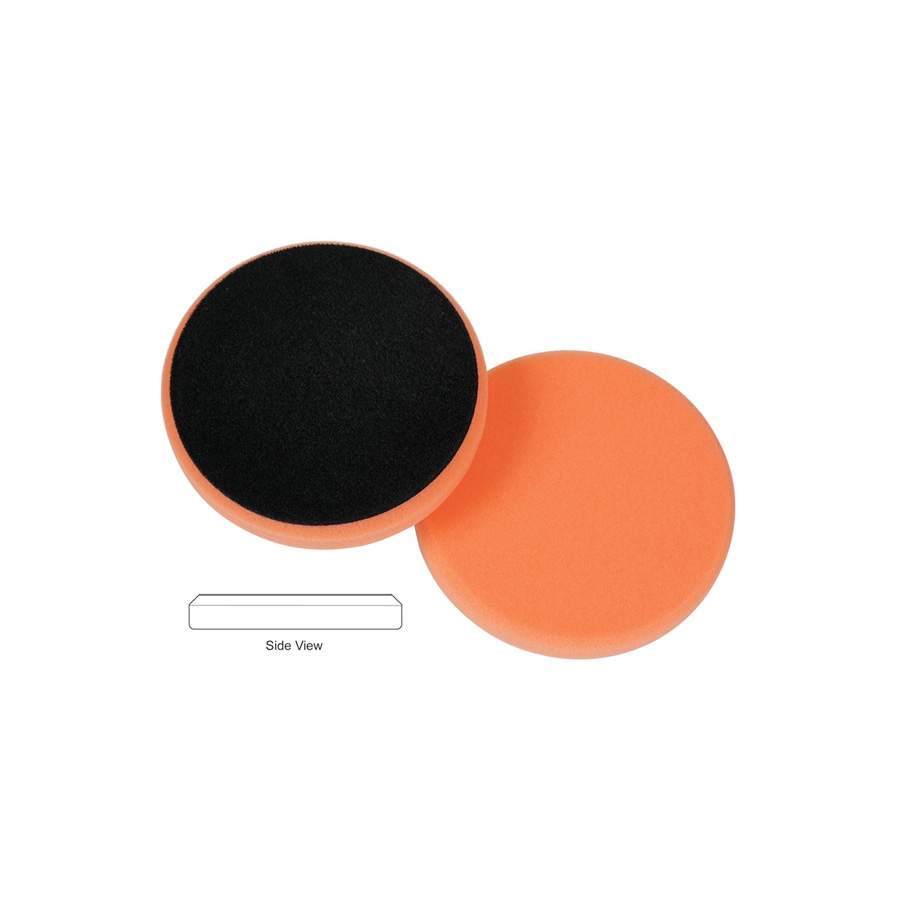 Lake Country Flat Cutback DA Foam Light Cutting Pad, Orange - 3.5 inch