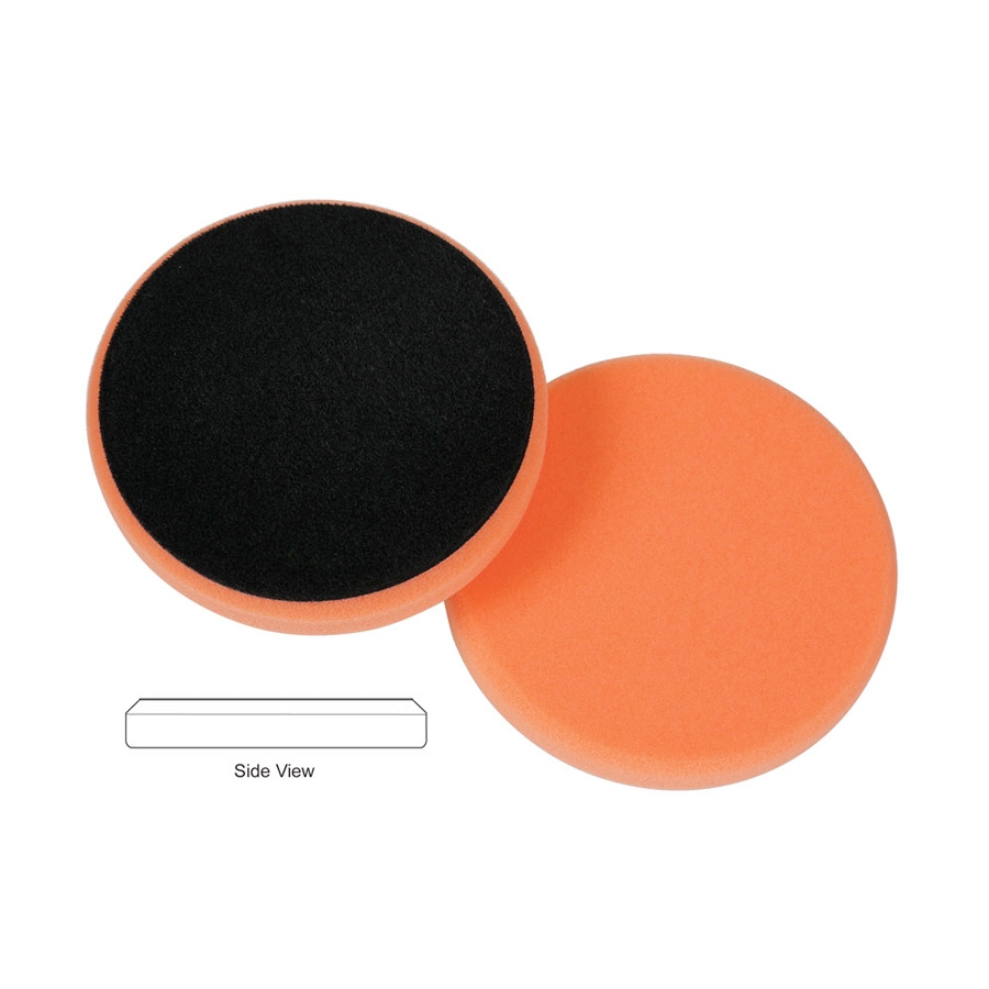 Lake Country Flat Cutback DA Foam Light Cutting Pad, Orange - 5.5 inch