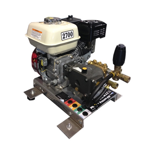 Pressure-Pro Eagle Series E3027HA Pressure Washer - Direct Drive, Gas Powered, 3 GPM, 2700PSI, Skid Mount