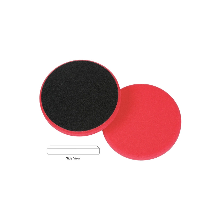 Lake Country Flat Cutback DA Foam Wax/Sealant Pad, Red - 3.5 inch