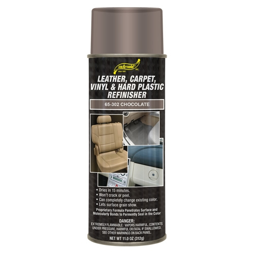 SM Arnold Leather, Vinyl & Hard Plastic Refinisher, Chocolate - 11 oz. aerosol