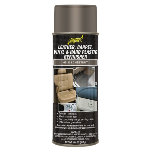 SM Arnold Leather, Vinyl & Hard Plastic Refinisher, Chestnut - 11 oz. aerosol