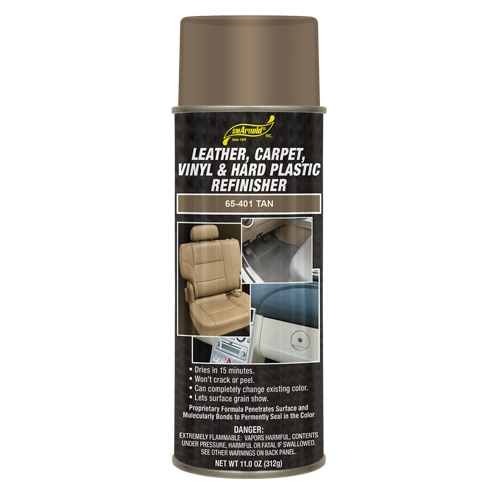 SM Arnold Leather, Vinyl & Hard Plastic Refinisher, Tan - 11 oz. aerosol