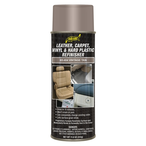 SM Arnold Leather, Vinyl & Hard Plastic Refinisher, Vintage Tan - 11 oz. aerosol