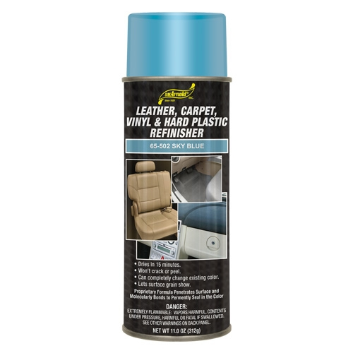 SM Arnold Leather, Vinyl & Hard Plastic Refinisher, Sky Blue - 11 oz. aerosol