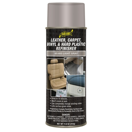 SM Arnold Leather, Vinyl & Hard Plastic Refinisher, Light Gray - 11 oz. aerosol