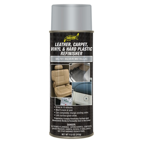 SM Arnold Leather, Vinyl & Hard Plastic Refinisher, Silver Metallic - 11 oz. aerosol