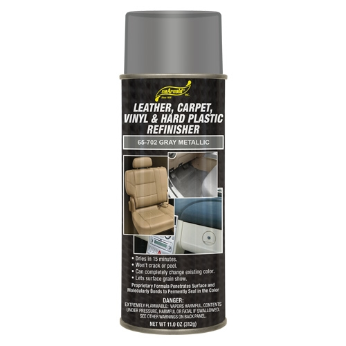 SM Arnold Leather, Vinyl & Hard Plastic Refinisher, Gray Metallic - 11 oz. aerosol