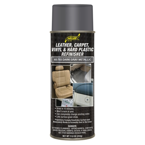SM Arnold Leather, Vinyl & Hard Plastic Refinisher, Dark Gray Metallic - 11 oz. aerosol