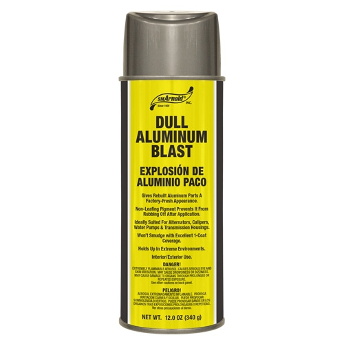 SM Arnold Dull Aluminum Blast Acrylic Lacquer - 12 oz. aerosol