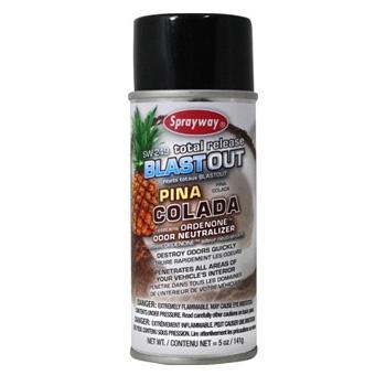 Sprayway Blast Out Total Release Odor Eliminator, Piña Colada Scent - 5 oz.
