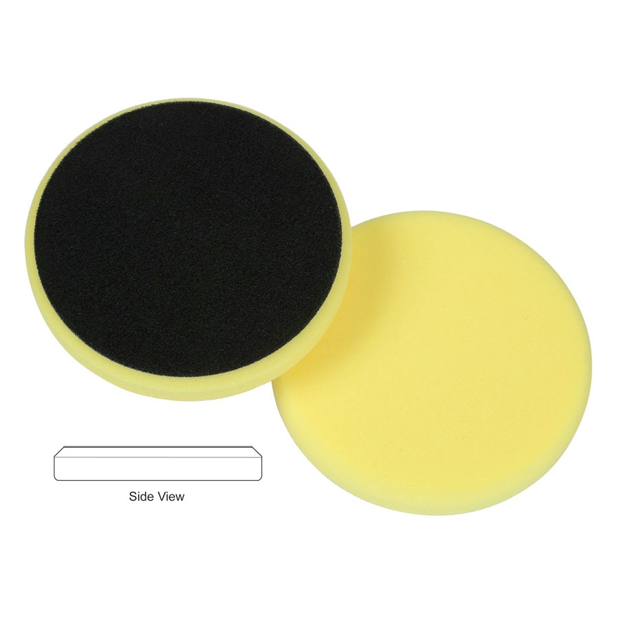 Lake Country Flat Cutback DA Foam Cutting Pad, Yellow - 6.5 inch