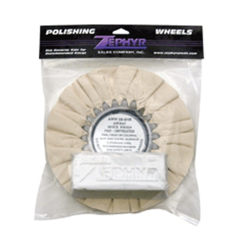Zephyr White Airway Buff with 1 lb. White Rouge Bar (Finishing) for Aluminum and Stainless Steel