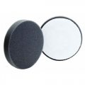 Buff and Shine Flat Face Foam Finishing Pad, Black - 4 inch (2 pack)