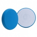 Buff and Shine Flat Face DA Foam Light Polishing Pad, Blue - 5.5 inch