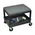 Luxor Mechanic/Detailer Rolling Seat w/ Storage Tub - Black