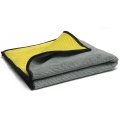Multi-Purpose Microfiber Towel with Mesh Bug Scrubber, Gray/Yellow - 16 in. x 16 in.