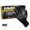 SAS Raven Powder Free Black Nitrile 6 Mil. Gloves - Medium