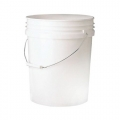 5 Gallon Heavy Duty Wash Bucket, White