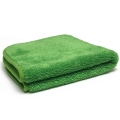 Ultra Plush Microfiber Towel, 600 GSM, Green/Green - 16 in. x 16 in.