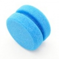 "Buff and Shine Blue Foam Tire Dressing Sponge - 3.5"" x 2"""