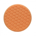 Buff and Shine Center Ring Hex Face Foam Cutting Pad, Orange - 7.5 inch