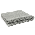 Super Plush Edgeless Microfiber Towel, 360 GSM, Silver - 16 in. x 16 in.