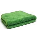 "Ultra Plush Microfiber Towel, 16"" x 16"", 600 GSM - Green/Green"