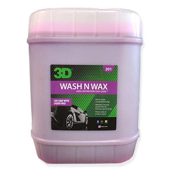 3D Wash N Wax - 5 gal.