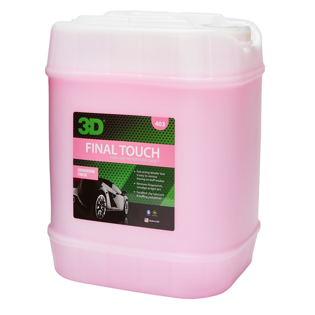 3D Final Touch Quick Detailer - 5 gal.