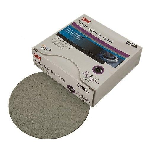3M Trizact Hookit Foam Sanding Discs, 3000 grit, 02085 - 6 inch (box of 15)