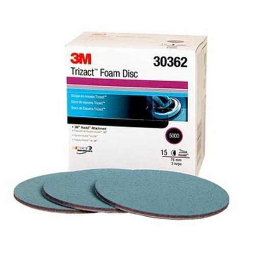 3M Trizact Hookit Foam Sanding Discs, 5000 grit, 30362 - 3 inch (box of 15)
