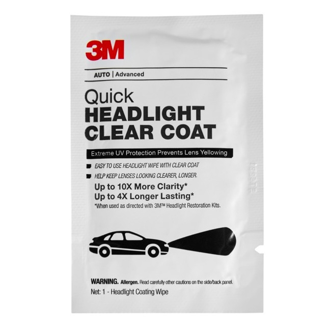 3M Quick Headlight Clear Coat Wipes (40 pack)